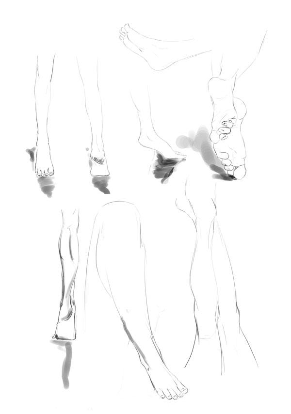Feet and leg sketches by Chibi Jennifer | Dear Chibi