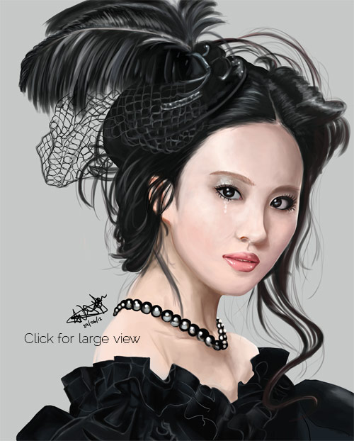 Liu Yi Fei Painting - Click for larger view