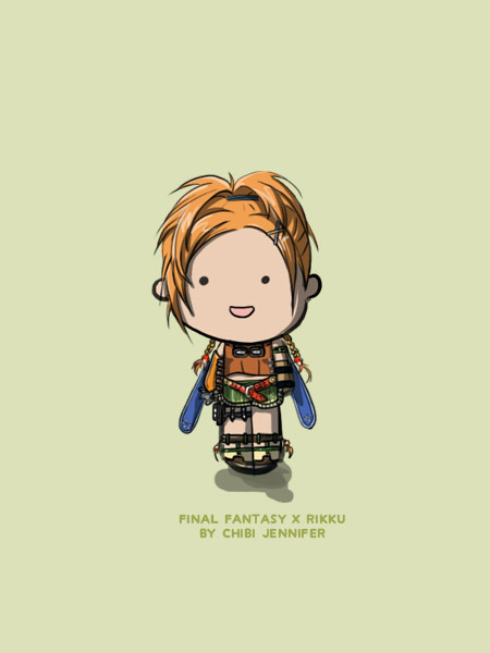 Final fantasy X Rikku Chibi Doll