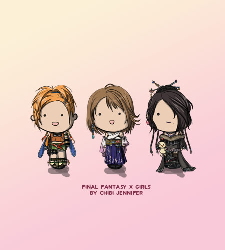 Final Fantasy X Chibi Dolls Yuna, Rikku and Lulu