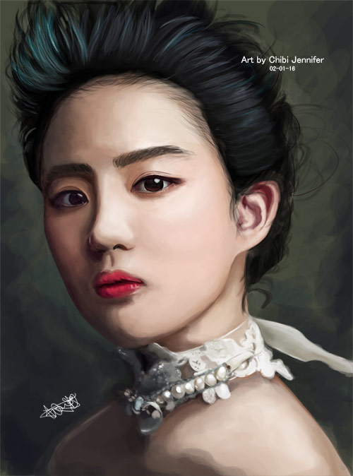 Liu Yifei digital painting