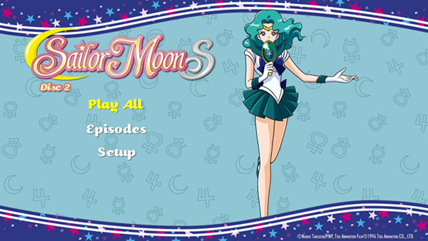 Sailor Moon S Part 1 Menu screen (Madman)