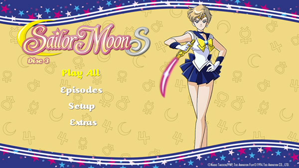 Sailor Moon S Part 1 Menu screen (Madman)