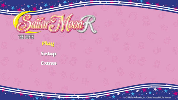 Sailor Moon R - The Movie DVD Menu