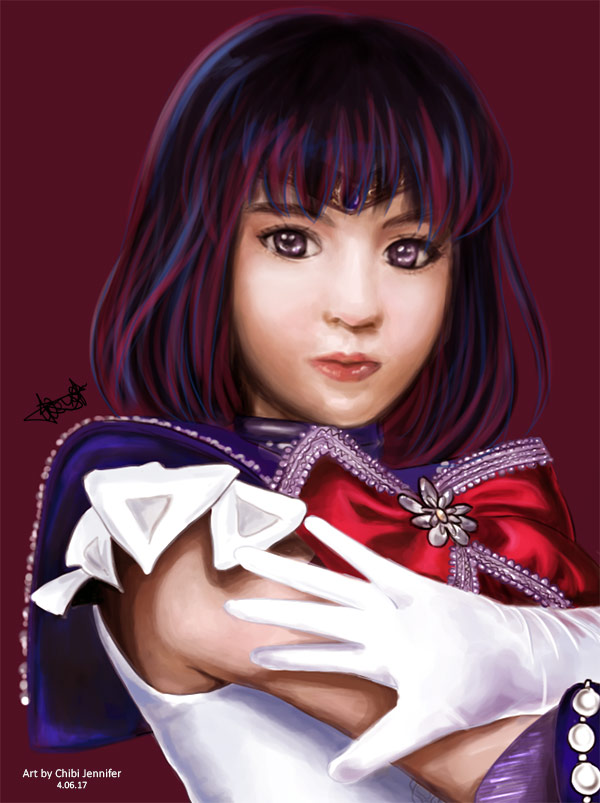 Seramyu - Sailor Saturn Digital Painting by Chibi Jennifer