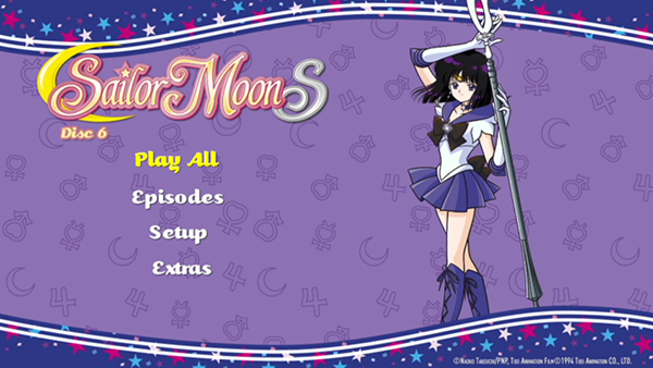 Sailor Moon S Part 2 DVD Menu