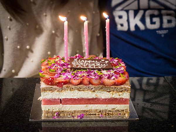 Strawberry Watermelon Birthday Cake