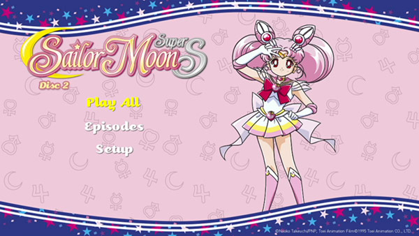 Sailor Moon SuperS DVD Menu