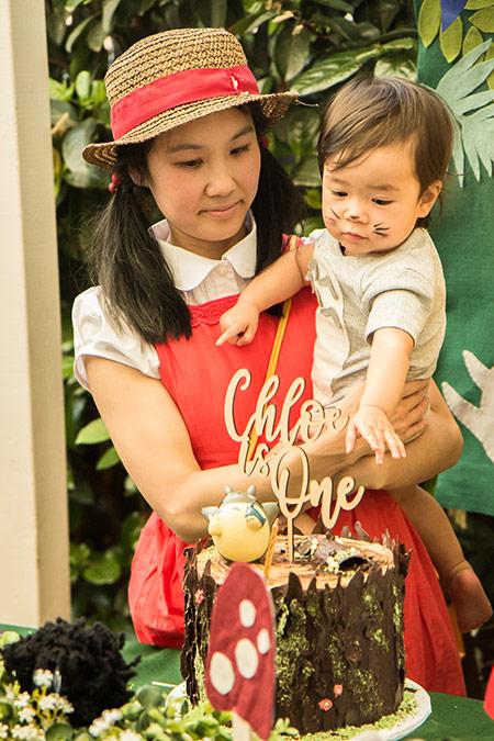 Chloe's Totoro Birthday - Mei and Totoro
